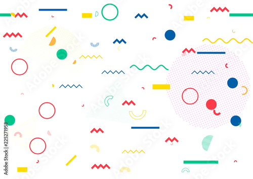 Fotomural Minimal Memphis Design, Geometric Seamless Vector Cover Design