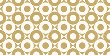Background Pattern Seamless Design Gold Color Round And Square Abstract Vector.
