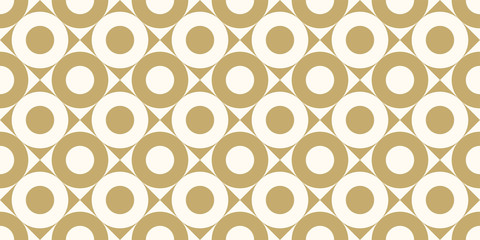 Fototapeta Do kawiarni Background pattern seamless design gold color round and square abstract vector.