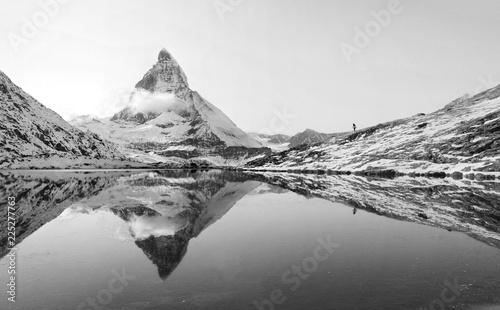 Riffelsee with Matterhorn reflection, Switzerland Wallpaper Mural