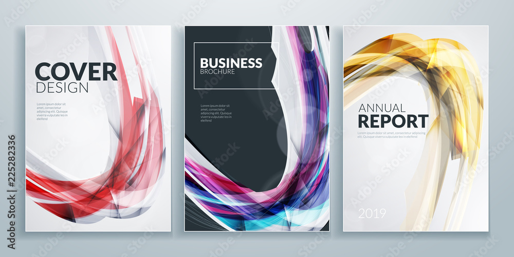 Fototapeta Business brochure cover design templates. Business flyer or poster with abstract background