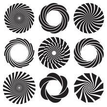 Optical Art Spiral Set
