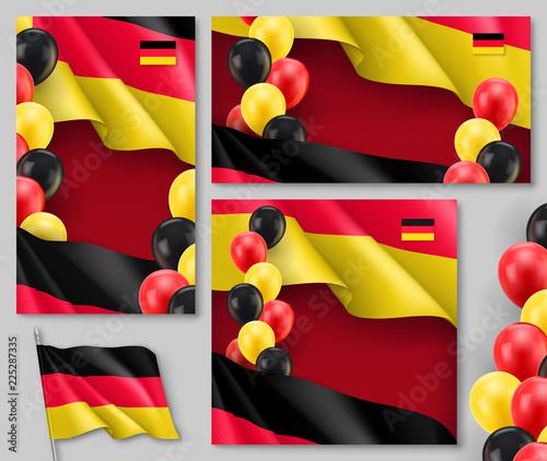 Germany republic patriotic templates with copy space