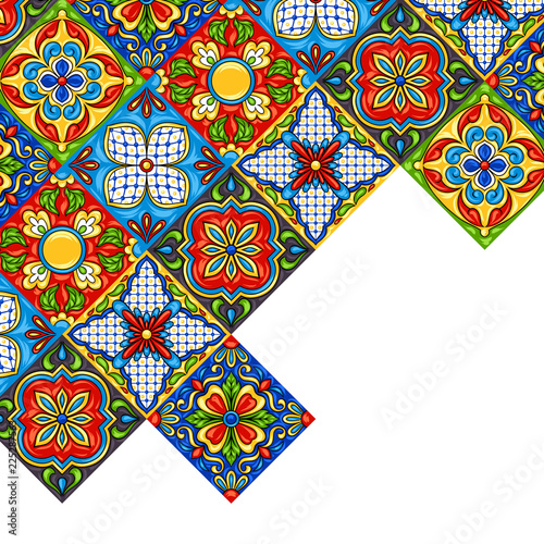 Valokuva Mexican talavera ceramic tile pattern.