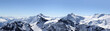 Leinwandbild Motiv Alps Mountain panorama on the Titlis, Switzerland