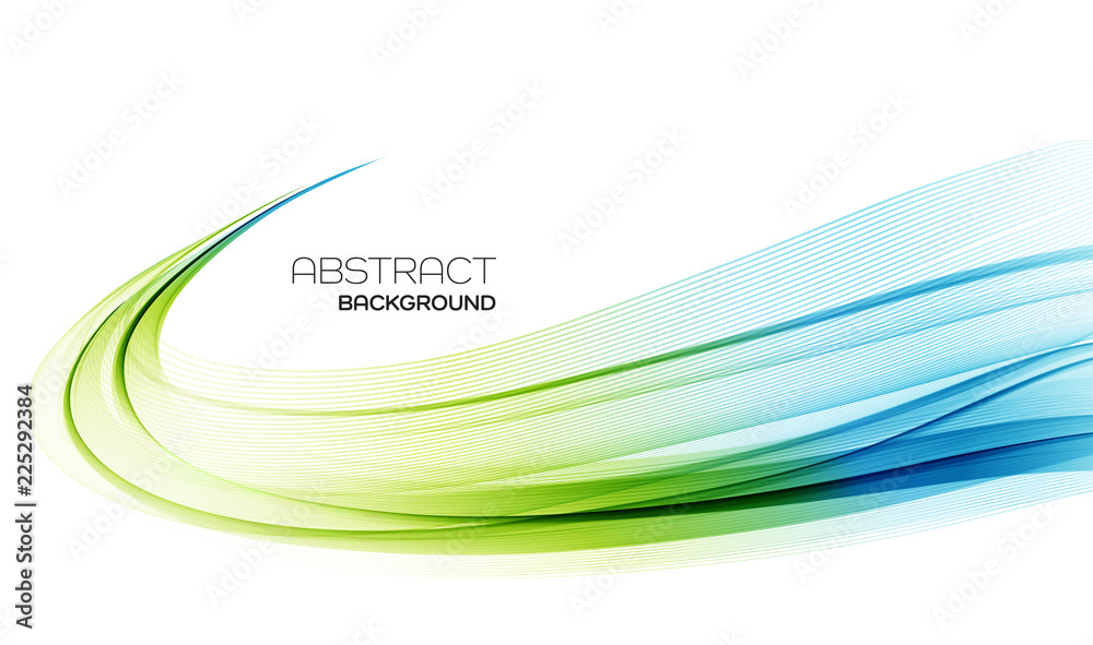 Fototapety, obrazy: Abstract colorful vector background, color wave for design brochure, website, flyer.