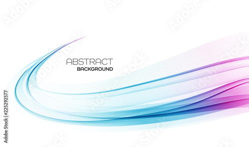 Obraz Abstract colorful vector background, color wave for design brochure, website, flyer. - fototapety do salonu