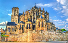 Saint Julien Cathedral Of Le Mans In France