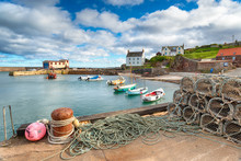 St Abbs Harbour In Scotland