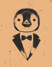 Portrait Of Penguin In Suit, H...