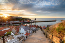 Sunset Over Whitby In Yorkshire