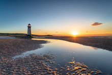 Point Of Ayr Lighthouse At Talacre In Wales