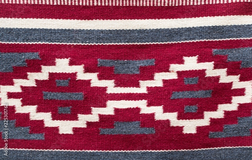 Authentic Ukrainian woven carpet with traditional ornament