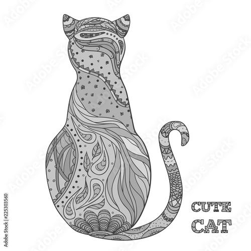 Fotografie, Obraz  Cat on white