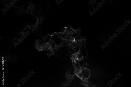 Fotobehang Rook Smoke black background