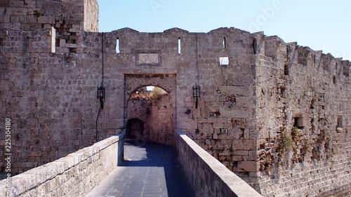 Zdjęcie XXL Widok ściany starego miasta, Rodos, Grecja.