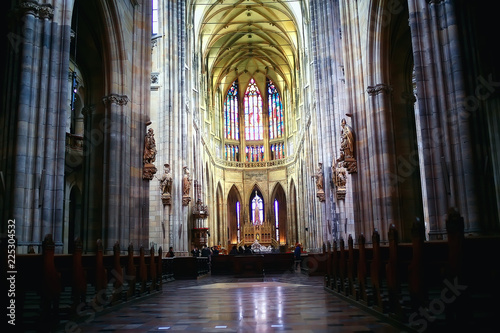 Fotografie, Obraz  interior of the Catholic Cathedral in Prague / cathedral in the czech republic,