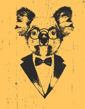 Portrait Of Koala In Suit, Han...