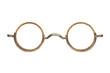 Leinwandbild Motiv Vintage circular eyeglasses isolated on white
