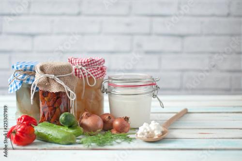 Fotobehang Aromatische Fermented food