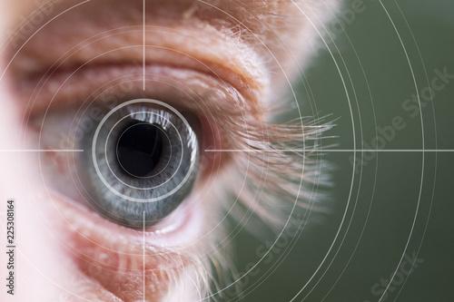 Fotografía  Eye monitoring virtual reality health digital healthcare.