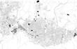 Cartina di Bursa, Turchia, vista satellitare, mappa in bianco e nero. Stradario e mappa della città. Asia