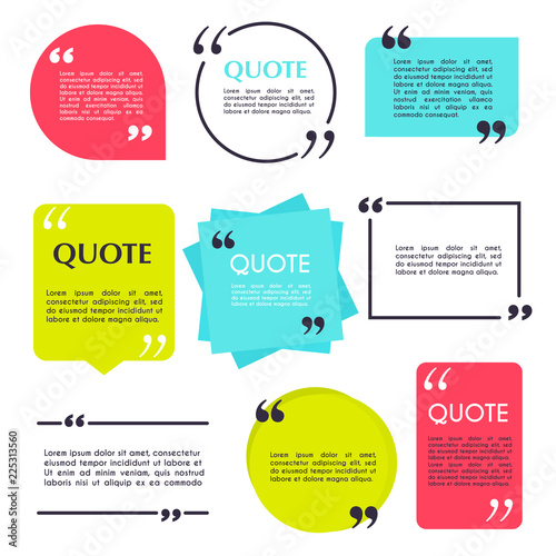 Quote blank template Fototapeta
