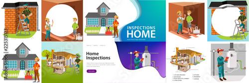 Fotografie, Obraz  Home inspection rendered services