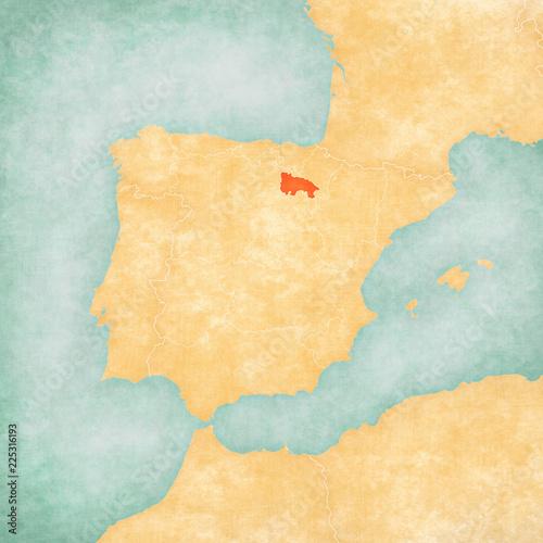 Map of Iberian Peninsula - La Rioja