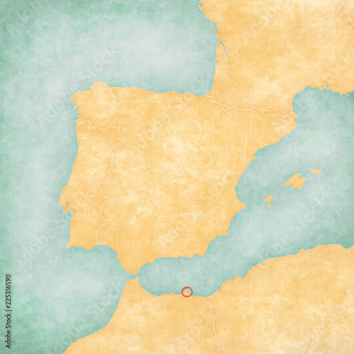 Map of Iberian Peninsula - Melilla