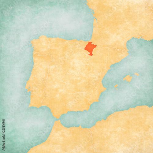 Map of Iberian Peninsula - Navarre