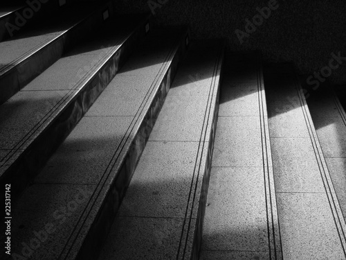Photo Stands Stairs Architectural design of stairs with shadow