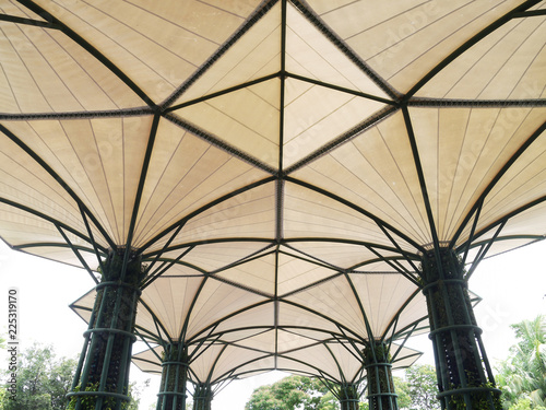 Tuinposter Stadion fabric tensile roof structure