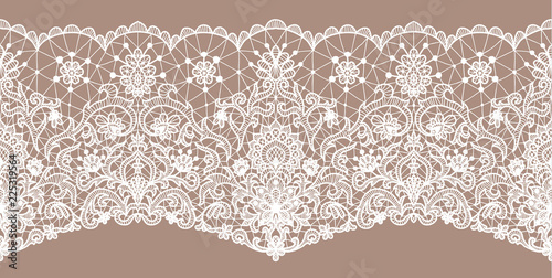 Leinwand Poster Seamless white lace