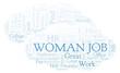 Woman Job word cloud.