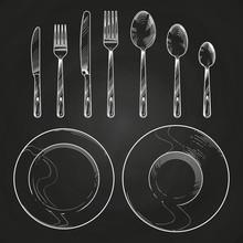 Vintage Knife, Fork, Spoon And...