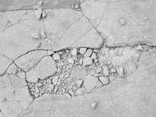 Cracked Concrete Floor Texture Closeup Background