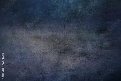 Fotografie, Obraz  Blue grungy canvas background or texture
