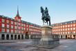 canvas print picture - Madrid Plaza Mayor