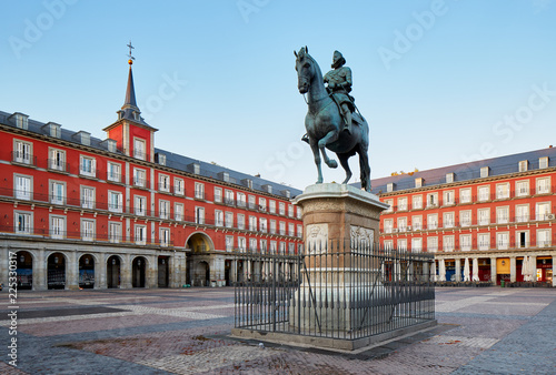 Photo sur Toile Europe Centrale Madrid Plaza Mayor