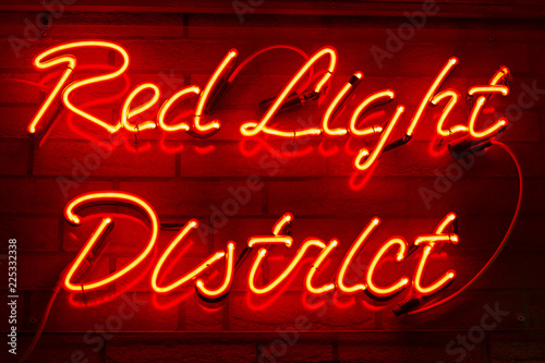Red Light District glow sign