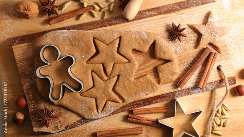 Foto christmas gingerbread biscuit