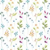Fototapeta Fototapety do przedpokoju i na korytarz, nowoczesne - Watercolor floral hand drawn colorful bright seamless pattern
