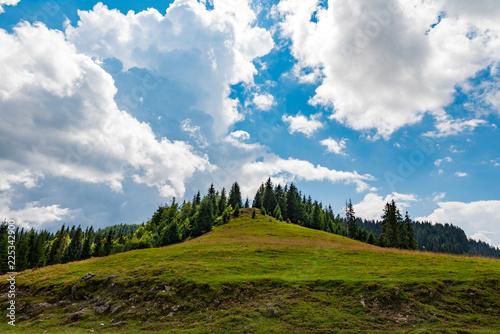 Fotobehang Blauw Mountain plateau