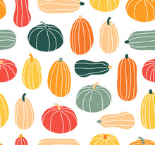 Seamless Pattern With Pumpkin ...