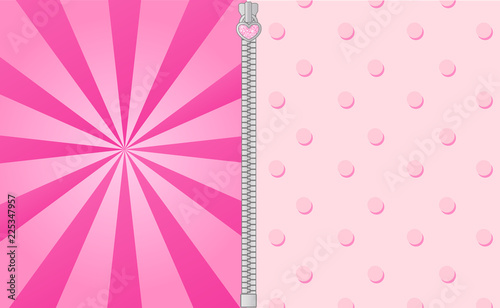 Fototapeta Cute Pink Background With Bright Beams Lol Doll Surprise Party Elements Of Design Vector Frame For Invitation Text Pattern With Points