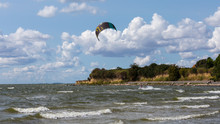 Kite Surfer Bei Thiessow