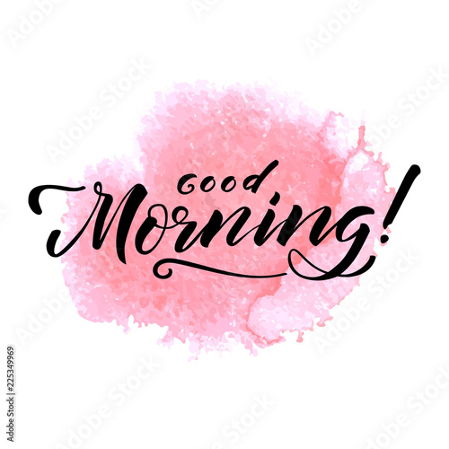 """Fotografie, Obraz  Hand drawn lettering """"Good morning"""""""