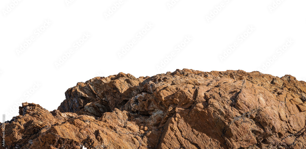 Fototapety, obrazy: cliff and rock stone on white background