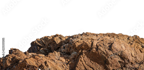 Tela cliff and rock stone on white background